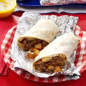 Blue Ribbon Beefy Burritos Recipe