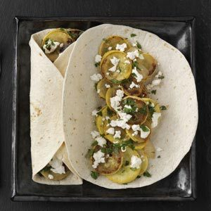 Squash Fajitas with Goat Cheese