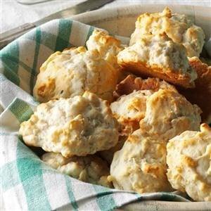 Onion & Garlic Biscuits Recipe