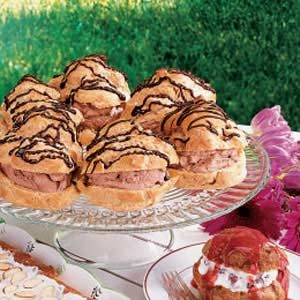 Chocolate-Filled Cream Puffs Recipe
