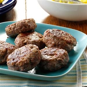 Turkey Sausage Patties Recipe