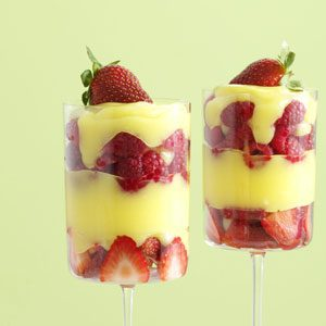Amaretto Custard Berry Parfaits Recipe