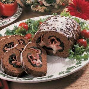 Spinach Meat Roll Recipe