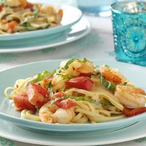 Tomato Shrimp Fettuccine Recipe