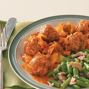 Cabbage & Meatballs Recipe