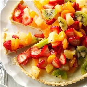 White Chocolate Fruit Tart Recipe
