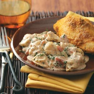Tortellini with Tomato-Cream Sauce Recipe