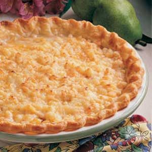 Cheddar Pear Pie Recipe