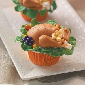 Turkey Dinner Cupcakes Recipe