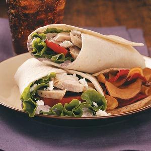 Mediterranean Turkey Wraps for Two Recipe
