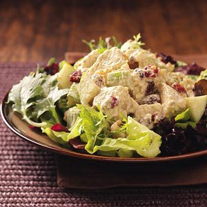 Fruited Curry Turkey Salad for Two Recipe