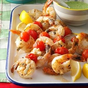 Lemony Shrimp & Tomatoes Recipe