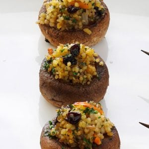 Moroccan Stuffed Mushrooms Recipe