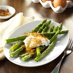 Poached Eggs with Tarragon Asparagus Recipe