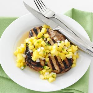 Tender Pork Chops with Mango Salsa Recipe