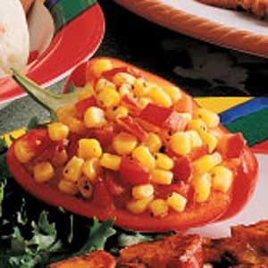 Corn Relish in Pepper Cups Recipe