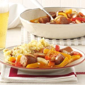 Chicken Sausages with Peppers Recipe