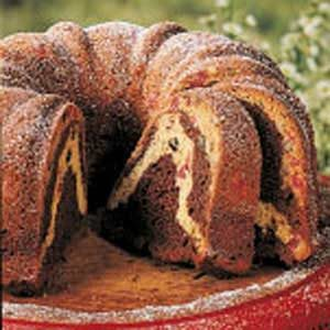 Cherry Chocolate Marble Cake Recipe