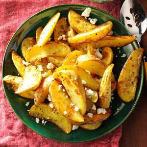 Roasted Greek Potatoes with Feta Cheese