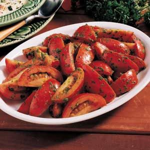 Tomatoes with Parsley Pesto Recipe