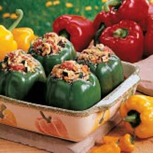 Chicken-Stuffed Green Peppers Recipe