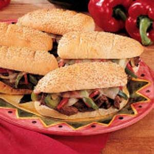 Peppery Philly Steaks Recipe