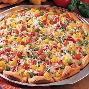 Pepper-Topped Pizza Recipe
