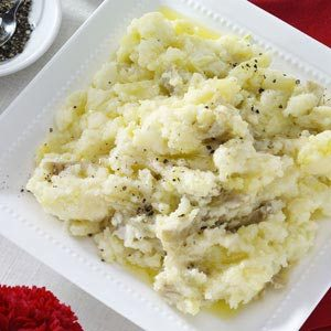 Chunky Garlic Mashed Potatoes Recipe