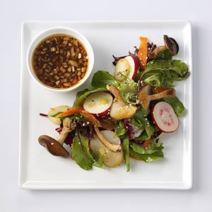 Shiitake Salad with Sesame-Ginger Vinaigrette Recipe