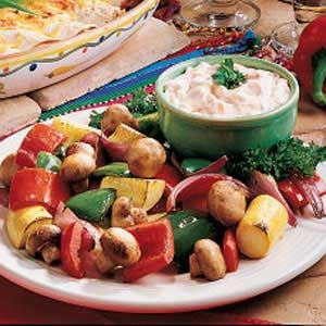 Roasted Vegetables with Dip Recipe