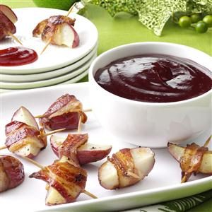 Balsamic-Cranberry Potato Bites Recipe