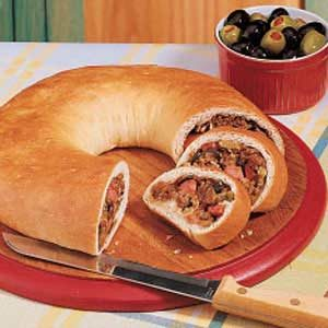 Sausage Cheese Olive Loaves Recipe
