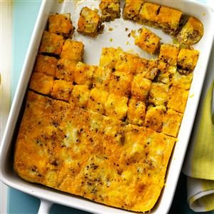 Sausage Quiche Squares Recipe