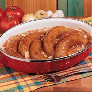 Saucy Bratwurst Supper Recipe