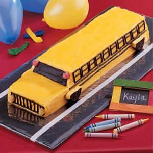 School Bus Cake Recipe