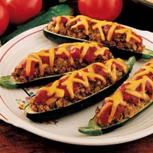 Meat Loaf Stuffed Zucchini