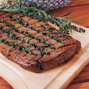 Basil-Stuffed Steak Recipe