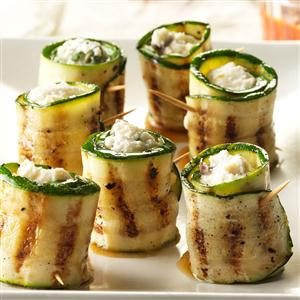 Zucchini & Cheese Roulades