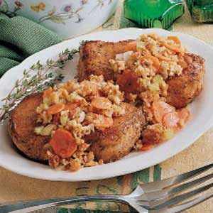 Quick-Stuff Pork Chops Recipe
