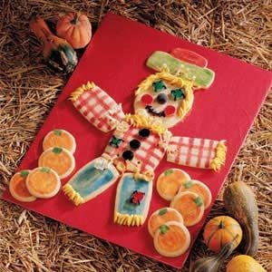 Sugar Cookie Scarecrow and Pumpkins Recipe