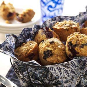 Blueberry-Bran Muffins Recipe
