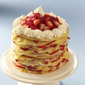Strawberry-Lemon Crepe Cake Recipe