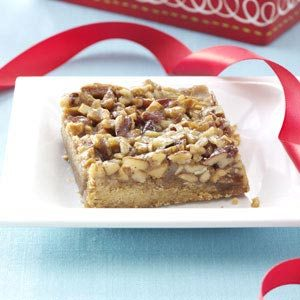 Cashew-Pecan Pie Bars Recipe