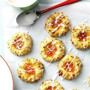 Apricot-Pecan Thumbprint Cookies