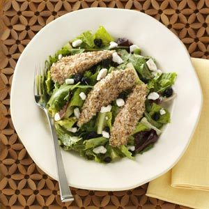 Pecan-Crusted Chicken Salad with Fig Vinaigrette Recipe