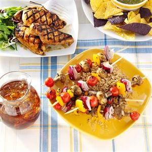 Lemon-Sesame Veggie Kabobs Recipe