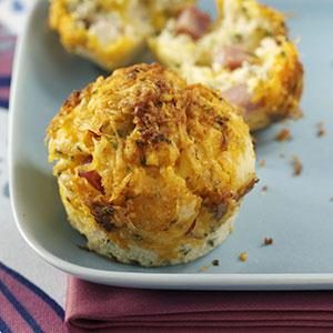 Zesty Ham and Cheese Muffins Recipe