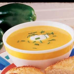 Superb Yellow Pepper Soup Recipe