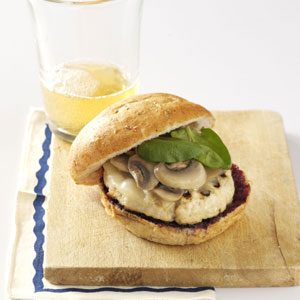 Turkey Burgers with Blueberry BBQ Sauce Recipe