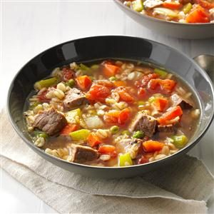 Comforting Beef Barley Soup Recipe